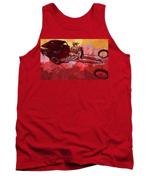 Bantam Dragster Pop Red Tank Top