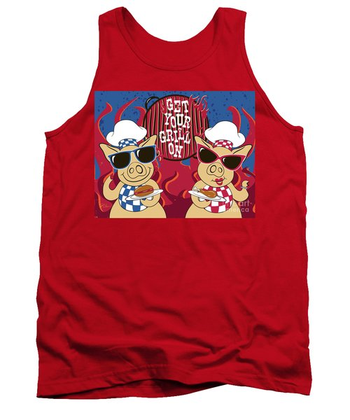 Barbecue Pigs Tank Top