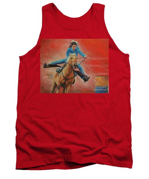 Barrel Racing Tank Top by Jeanette French
