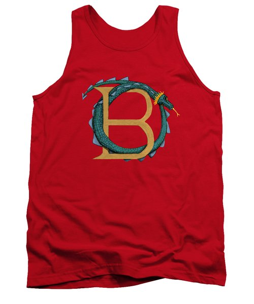 Tank Top featuring the digital art Basilisk Letter B by Donna Huntriss