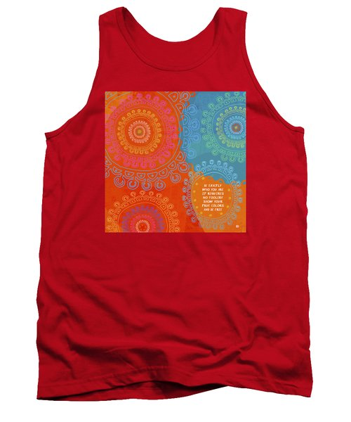Tank Top featuring the painting Be Exactly Who You Are by Lisa Weedn