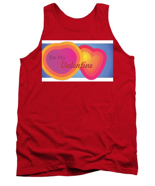 Tank Top featuring the digital art Be My Valentine Card by Sherril Porter