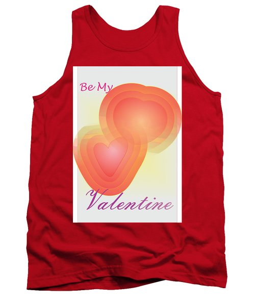 Tank Top featuring the digital art Be My Valentine by Sherril Porter