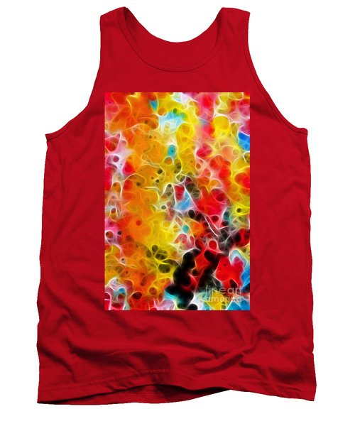 Be Strong Do Not Fear Isaiah 35 4-5 Tank Top by Mark Lawrence