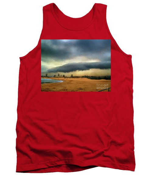 Tank Top featuring the photograph Beach Storm At Sunset By Kaye Menner by Kaye Menner