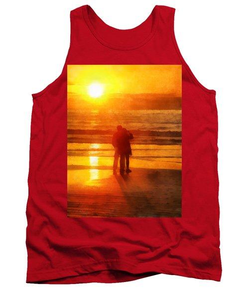 Beach Sunrise Love Tank Top by Francesa Miller