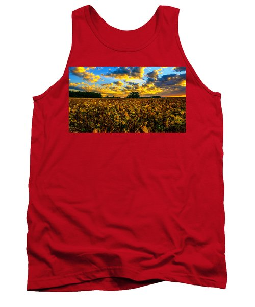 Bean Field Splendor  Tank Top by John Harding