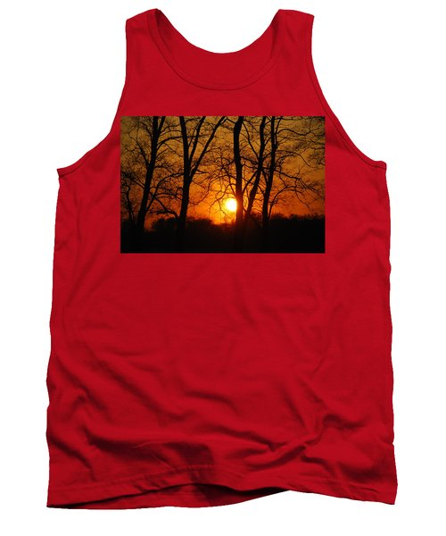 Beauatiful Red Sunset Tank Top