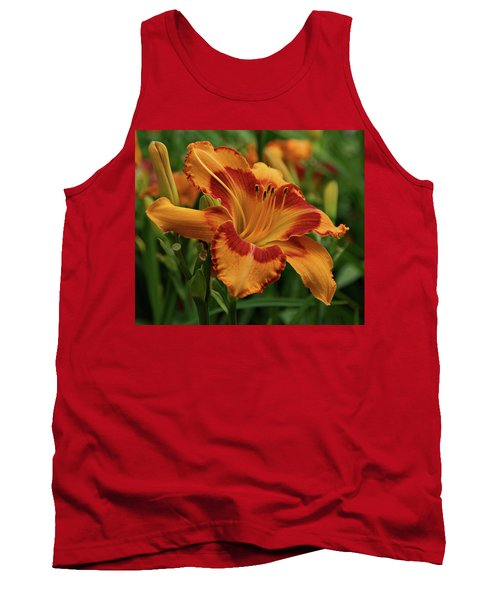 Tank Top featuring the photograph Beautiful Daylily by Sandy Keeton