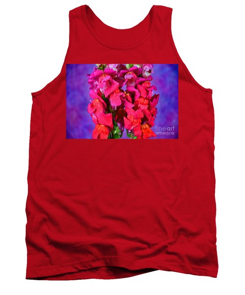 Beautiful Snapdragon Flowers Tank Top