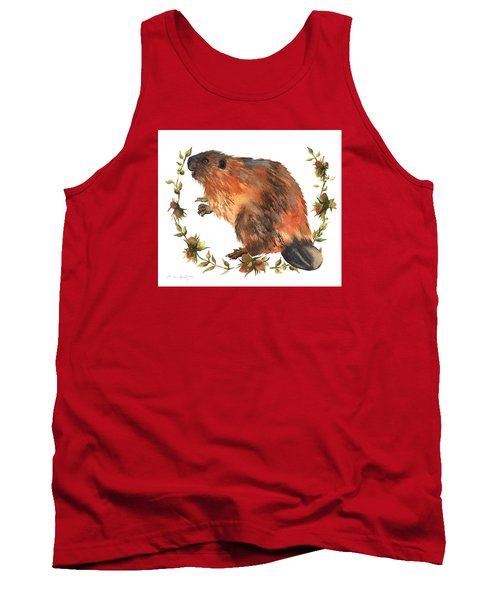 Beaver Painting Tank Top by Alison Fennell