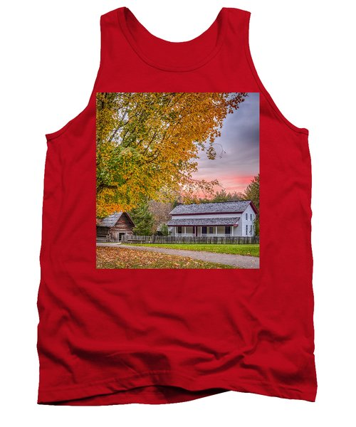 Tank Top featuring the photograph Becky Cabel House by Tyson and Kathy Smith