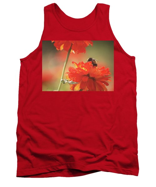 Tank Top featuring the photograph Bee And Flower II by Donna G Smith