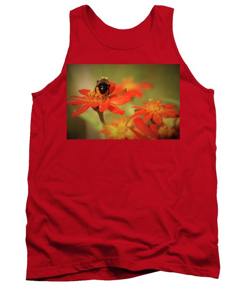 Tank Top featuring the photograph Bee And Flower IIi by Donna G Smith