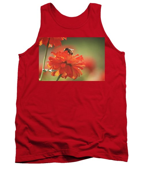 Tank Top featuring the photograph Bee And Flower Iv by Donna G Smith