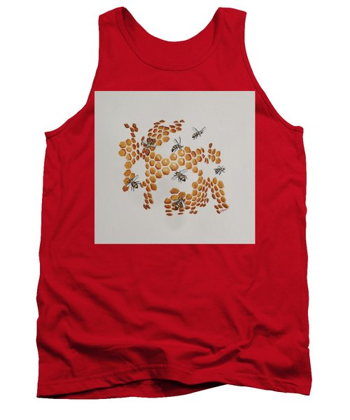 Tank Top featuring the painting Bee Hive # 2 by Katherine Young-Beck