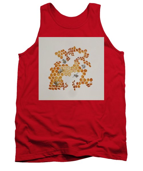 Tank Top featuring the painting Bee Hive # 5 by Katherine Young-Beck