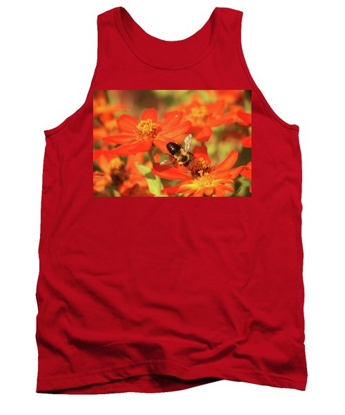 Tank Top featuring the photograph Bee On Flower by Donna G Smith