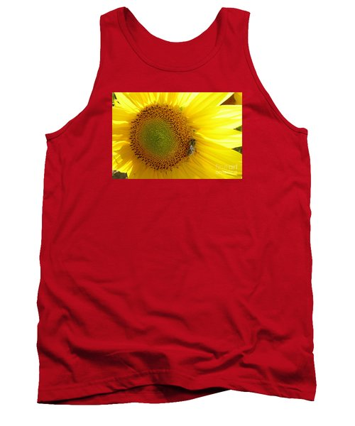 Tank Top featuring the photograph Bee On Sunflower by Jean Bernard Roussilhe