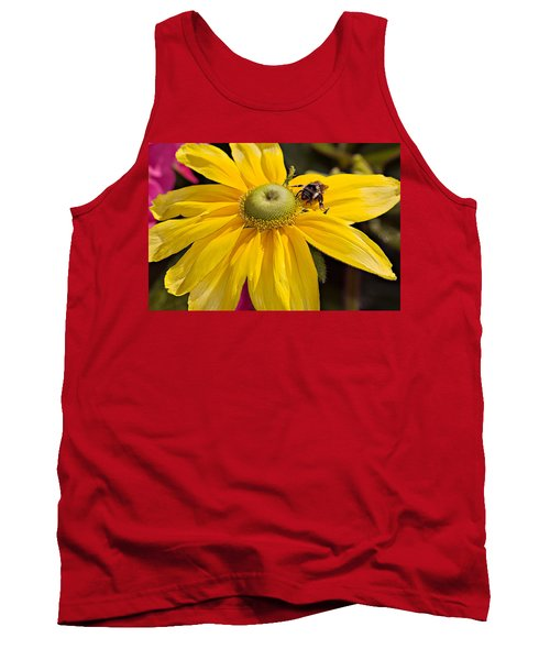 Bee On Yellow Cosmo Tank Top