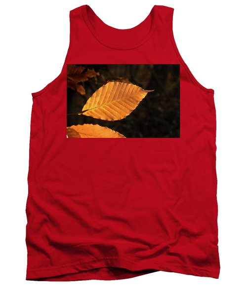 Beech Leaves In Afternoon Sun Tank Top