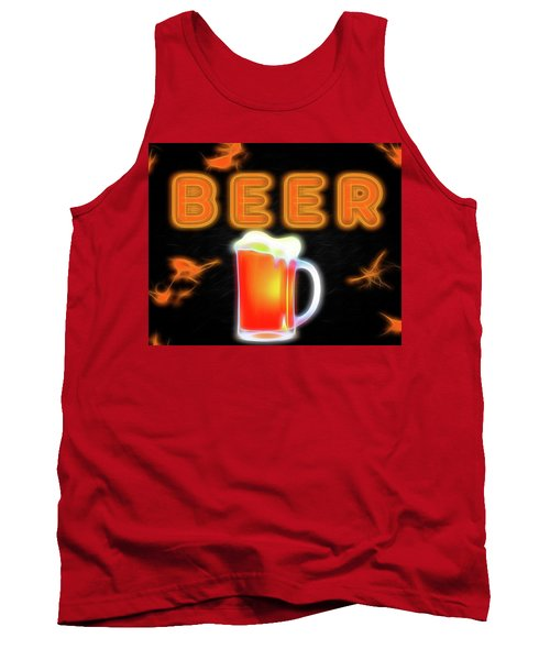 Beer Neon Sign Tank Top