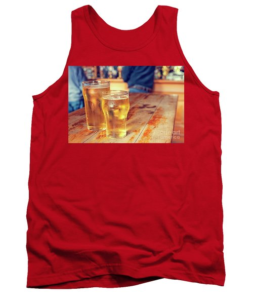 Tank Top featuring the photograph Beers In A Pub by Patricia Hofmeester