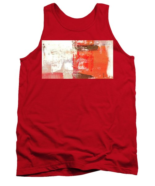 Behind The Corner - Warm Linear Abstract Painting Tank Top by Modern Art Prints