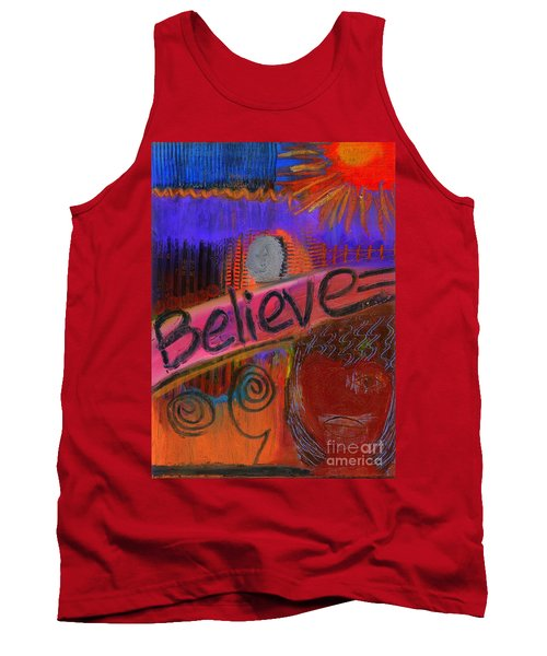 Tank Top featuring the painting Believe Conceive Achieve by Angela L Walker