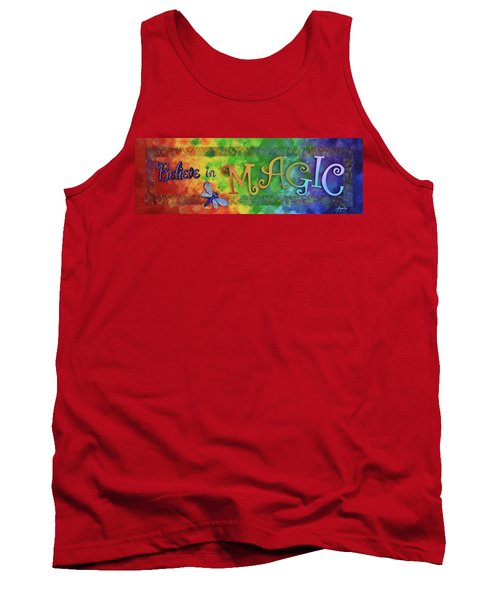 Tank Top featuring the painting Believe In Magic by Agata Lindquist