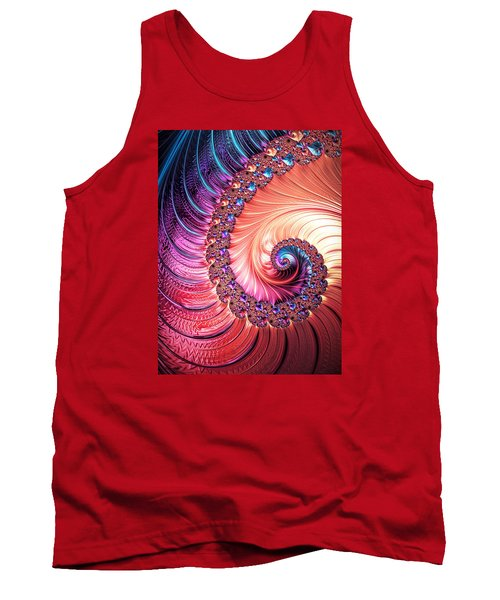 Beneath The Sea Spiral Tank Top by Kathy Kelly