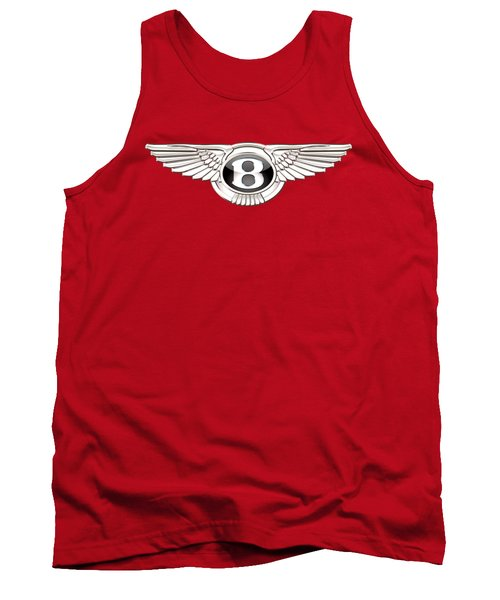 Bentley 3 D Badge On Red Tank Top by Serge Averbukh