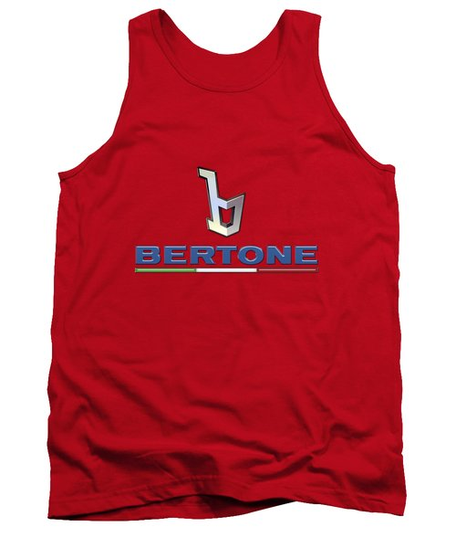 Bertone 3 D Badge On Red Tank Top by Serge Averbukh