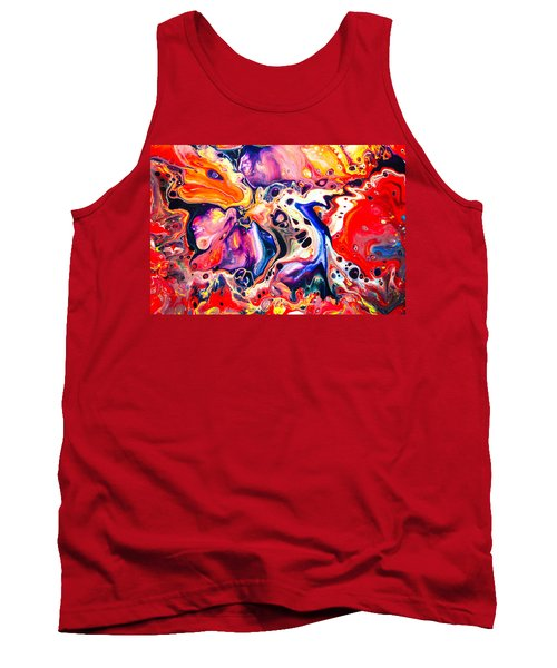 Best Friends  - Abstract Colorful Mixed Media Painting Tank Top