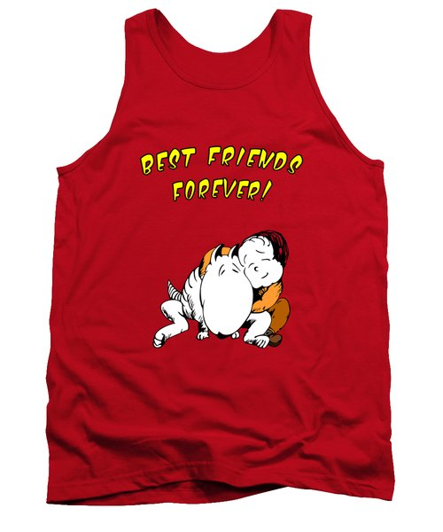 Tank Top featuring the drawing Best Friends Forever by Kim Gauge