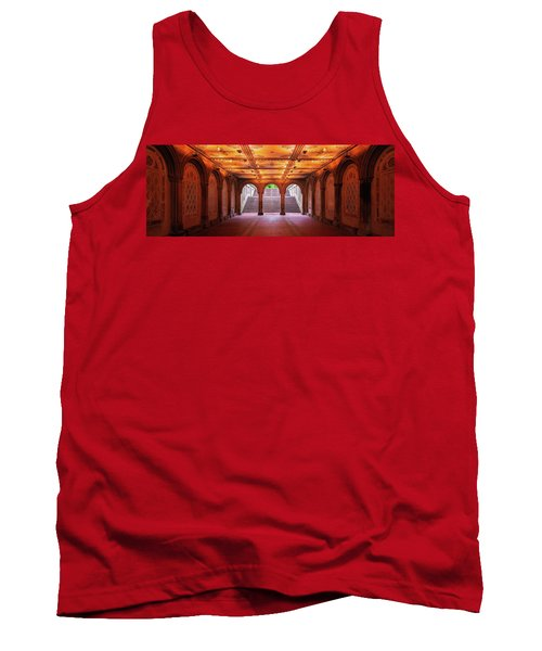 Tank Top featuring the photograph Bethesada Terrace by Edgars Erglis