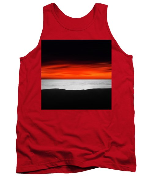 Between Red And Black Tank Top