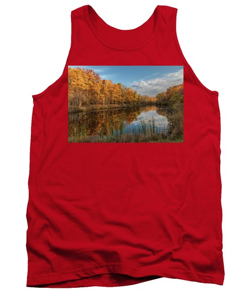 Beyer's Pond In Autumn Tank Top