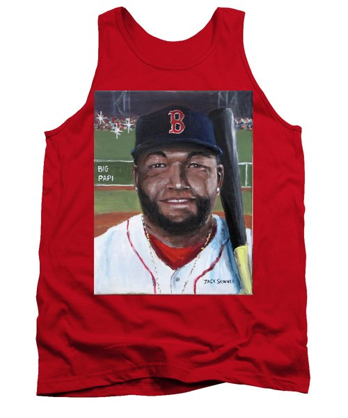 Tank Top featuring the painting Big Papi by Jack Skinner