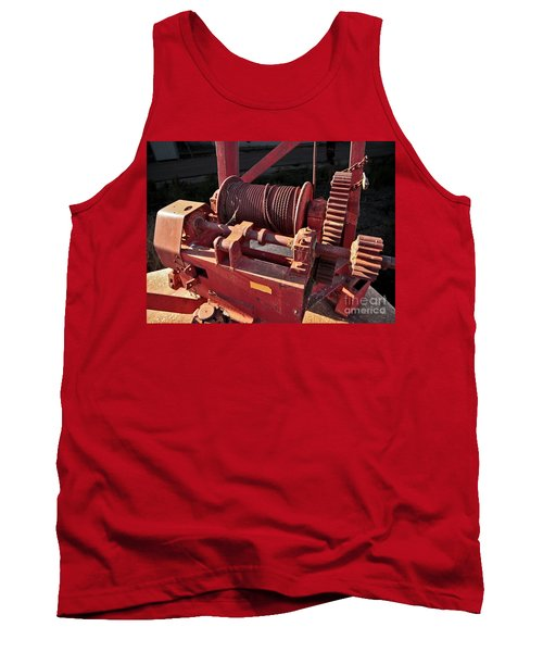 Tank Top featuring the photograph Big Red Winch by Stephen Mitchell