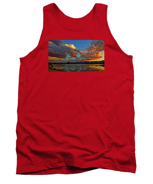Tank Top featuring the photograph Big Sky by Eric Dee