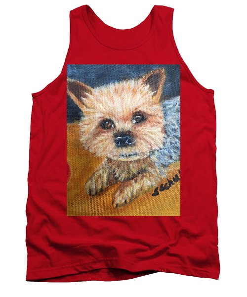 Tank Top featuring the painting Billy by Sharon Schultz