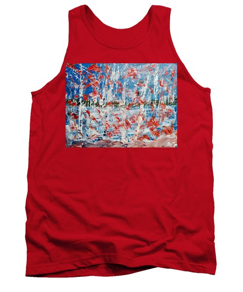 Birch On Pink Rocks Tank Top