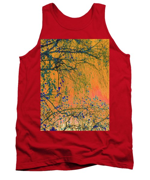 Birch Tree And Orange Sky - Winter Tank Top by Brooks Garten Hauschild