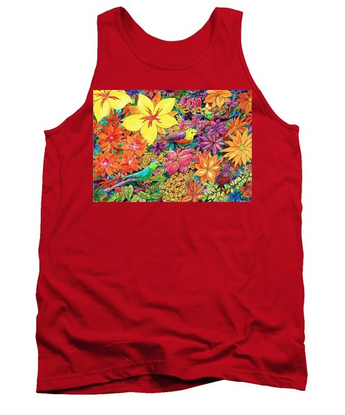Birds In Paradise Tank Top by Charles Cater