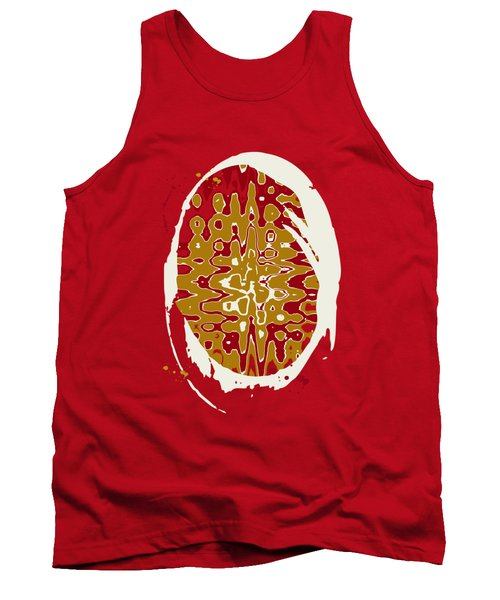 Black Gold Abstract Tank Top