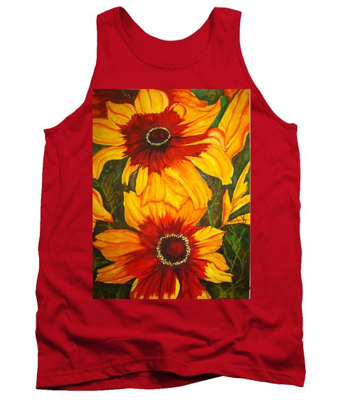 Blanket Flower Tank Top by Lil Taylor