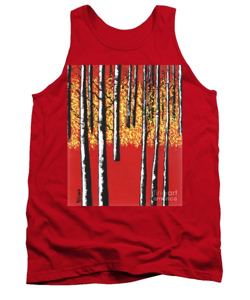 Blazing Birches Tank Top