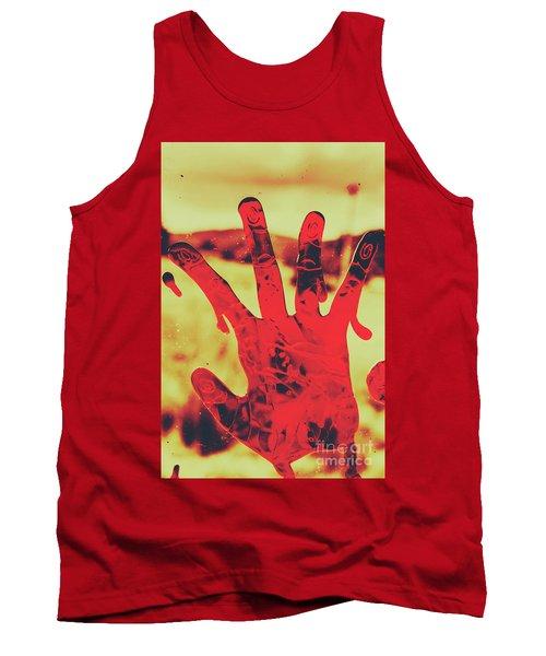 Bloody Halloween Palm Print Tank Top