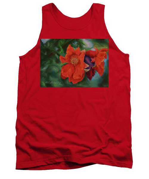 Blooming Poms Tank Top by Marna Edwards Flavell